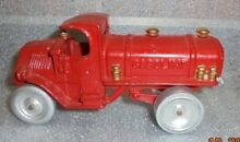 Old painted cast iron mack gasoline