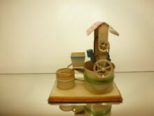 Made tin toy bucket water well for