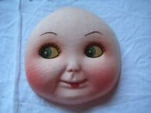 Fabric cloth rag doll face new old