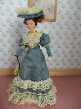 Victorian lady doll dressed in blue