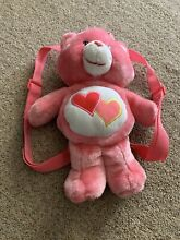 Plush backpack bag pink
