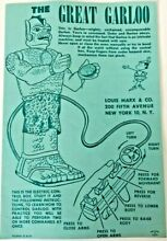 1960 marx toys the instructions