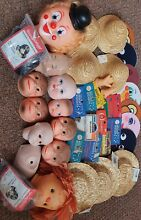 Great bundle doll parts heads face