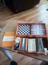 Cased travel games set chess