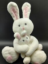 Bunny meadow baby white pink easter
