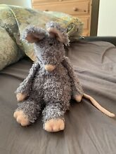 Bunglie grey mouse push soft toy 12
