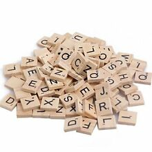 100pcs wooden alphabet tiles