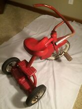 1950 s two step tricycle red child