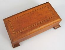 1964 signed wooden music box fine