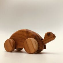 Traditional wooden toy tortoise 13