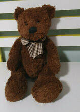 Byron brown teddy bear plaid bow