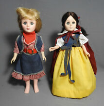Snow white and cowboy girl dolls