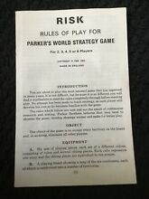 1963 parker replacement board game
