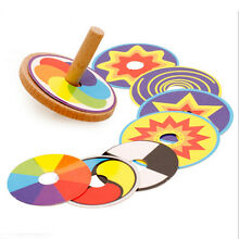 Wooden classic spinning top gyro