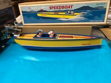 Schylling tin speed boat toy