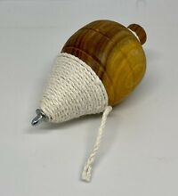 Wooden top toy solid wood cord