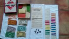 Old edition 1940s monopoly game