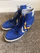 Blue men high tops trainers size