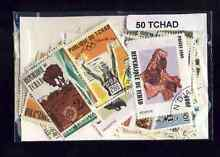 Tchad chad 50 timbres différents