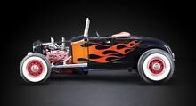 1929 ford hot rod black flames 1 18