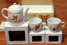 Cafe teapot 2 x tea mug set new