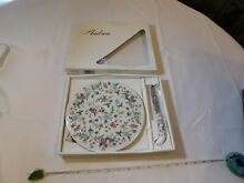 Porcelain cheese plate knife wild