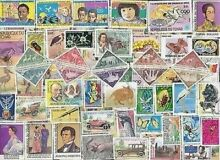 100 all different chad tchad stamps
