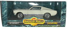 American muscle white 1967 mustang