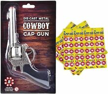 Die cast 8 shot metal cowboy toy