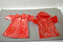 Doll clothes 2 red raincoats 35 40