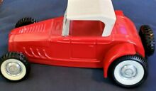 Ford roadster pressed steel toy red