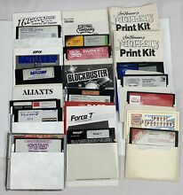 Floppy disk games and manuals
