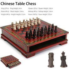 32pcs wooden chessmen contemporary