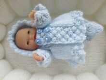 Hand knitted 5 chubby baby doll set