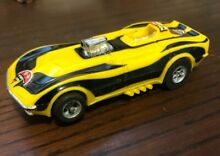 Corvette funny car in yellow and