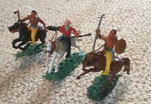 Swoppet mounted cowboy and indians