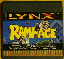 Lynx rampage cartridge only