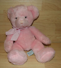 Rory pink teddy bear rattle plush