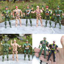 Military plastic toy soldiers 9cm
