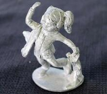 Pewter skating girl figurine statue
