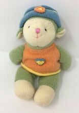 Wootles lamb plush green orange