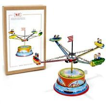 Tin toy rocket ride lever action