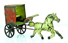 1890 s hand painted tin horse and