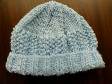 Baby born dolls hand knitted hat