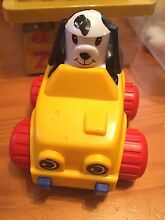 Pull back and go dog car guc