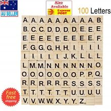 100x black letters numbers wooden