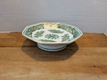 Oriental octagon footed bowl 7 25
