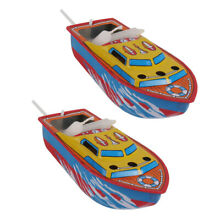 2 candle boat boat iron tin toy