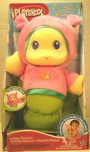 Pink gloworm stuffed lullaby toy