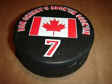 Puck don cherry s canadian flag 7